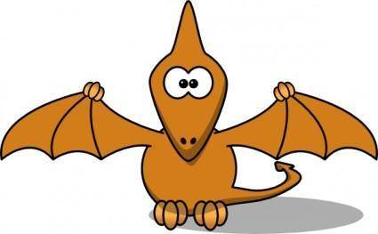 Studiofibonacci Cartoon Pterodactyl clip art