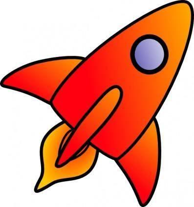 free vector Cartoon Rocket clip art
