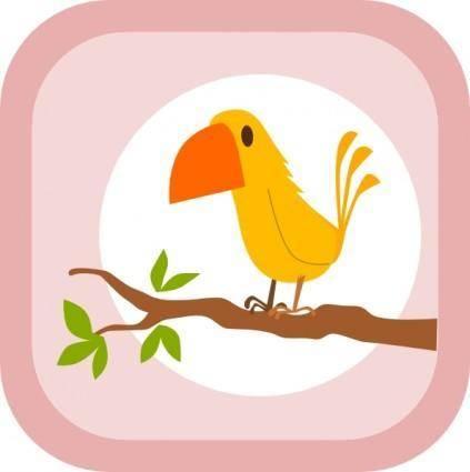 free vector Kablam Yellow Bird clip art