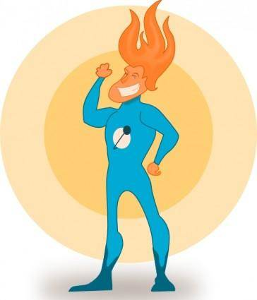 Kablam Super Hero Flame clip art