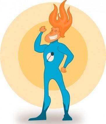 free vector Kablam Super Hero Flame clip art