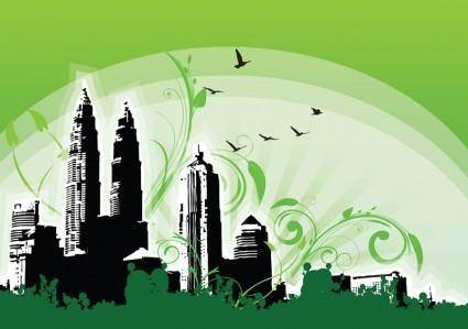 free vector Petronas Twin Towers Illustration