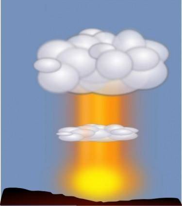Nuclear Explosion Jh clip art