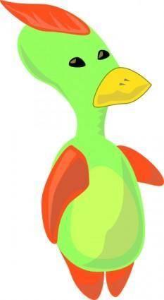 Alien Duck clip art