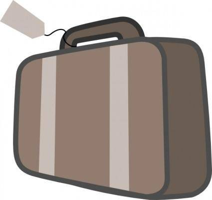 free vector Bag Luggage Travel clip art