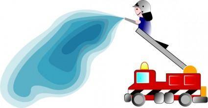 Firetruck And Fireman clip art