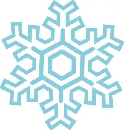 Stylized Snowflake clip art