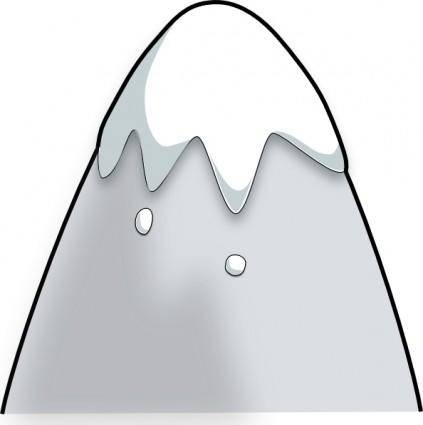 Kliponius Mountain In A Cartoon Style clip art
