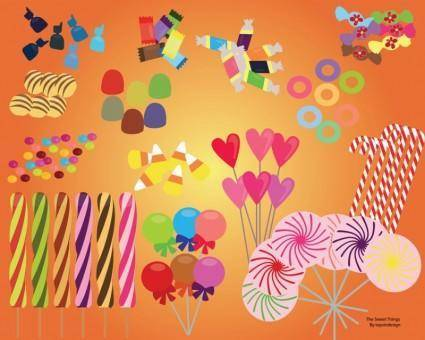 free vector Sweet Candy Set