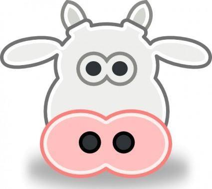 Tango Style Cow Head clip art