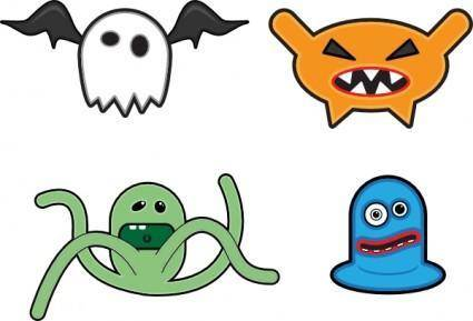 Cartoon Monsters clip art