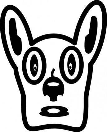 Cartoon Dog Face clip art
