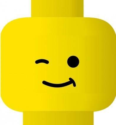 Lego Smiley Wink clip art