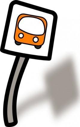 free vector Funny Bus Stop clip art