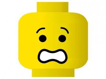 Lego Smiley Scared clip art
