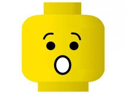 Lego Smiley Shocked clip art