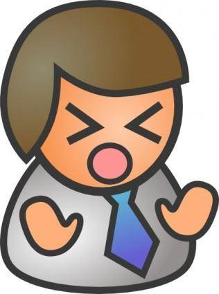 People Biz Male Sad clip art