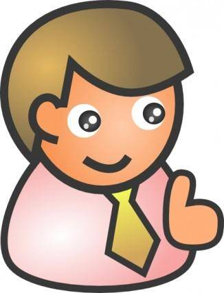 Business Man Smiling clip art