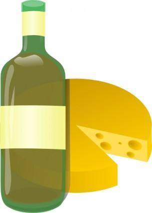 free vector Wine And Cheese clip art