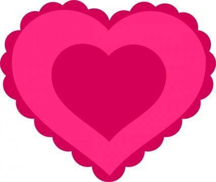Pink Lace Heart clip art