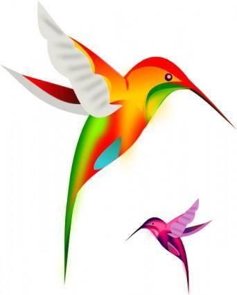 free vector Colibri Birds clip art