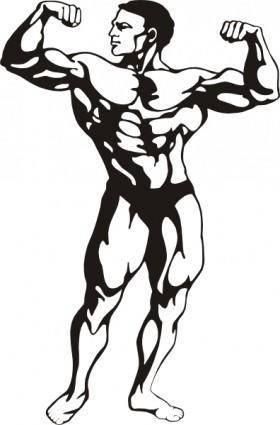 Body Builder clip art