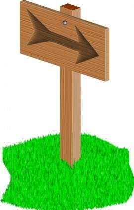 Sign Post clip art