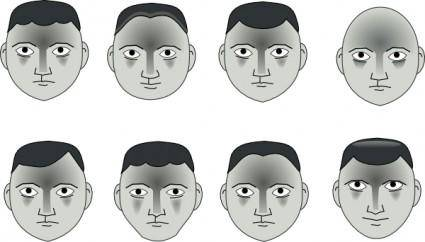 free vector Human People Cartoon Heads clip art