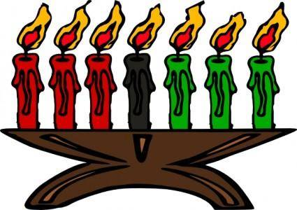 free vector Kwanzaa Kinara Candles clip art