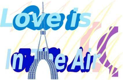 free vector E Card Love Is In The Air La Tour Eiffel Tower Aug clip art