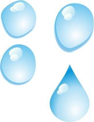 Set Of Water Drops clip art