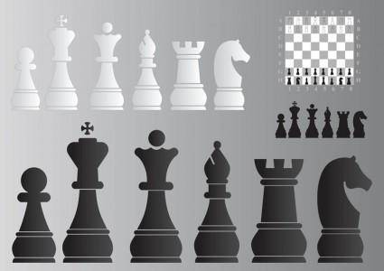 free vector Chess Board and Pieces