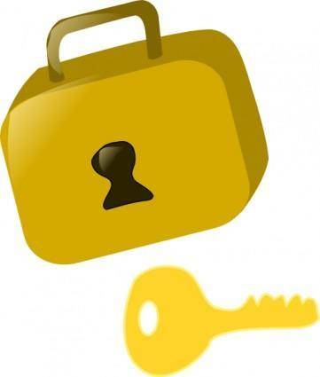 free vector Lock And Key clip art