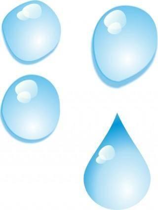 free vector Set Of Water Drops clip art