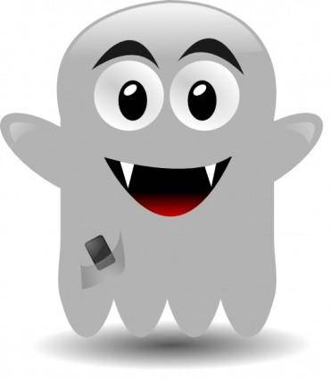 Ghost With A Cellephone clip art