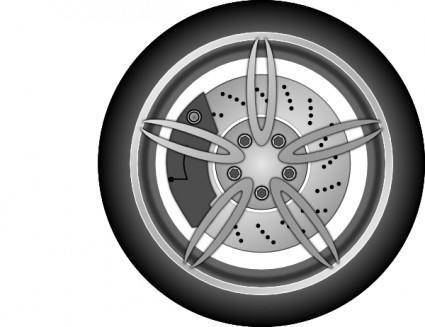 free vector Car Wheel clip art
