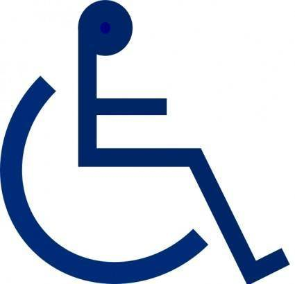 Wheelchair Sign clip art