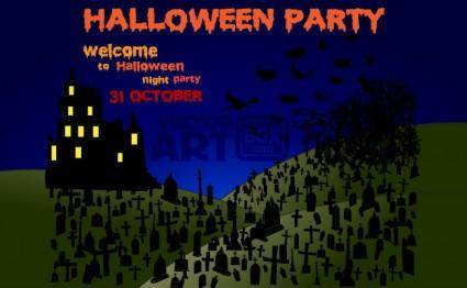free vector Halloween Party Night