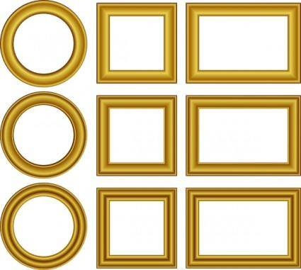 free vector Gold Frames Set clip art