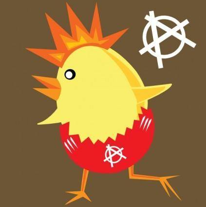 free vector Punk Rock Chicken For Easter clip art