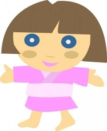 Japanese Character Girl clip art