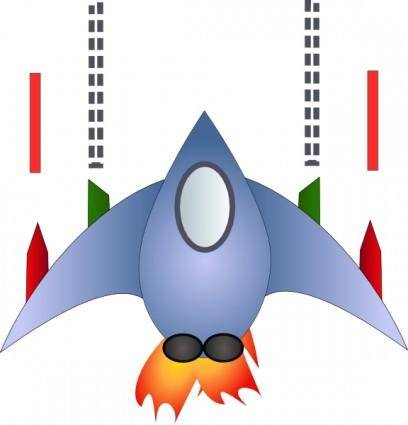 free vector Space Ship clip art