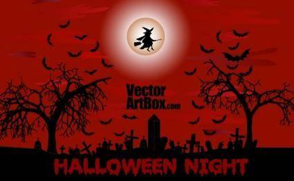 free vector Halloween Night Poster