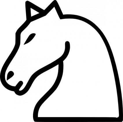 Knight Chess Piece clip art