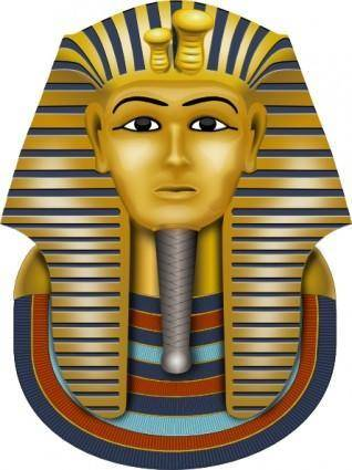 Golden Mask King Tut clip art