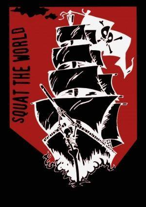 Squat The World Pirate Ship clip art