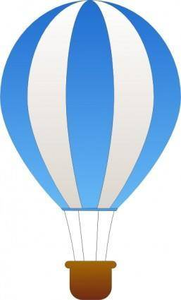 free vector Maidis Vertical Striped Hot Air Balloons clip art