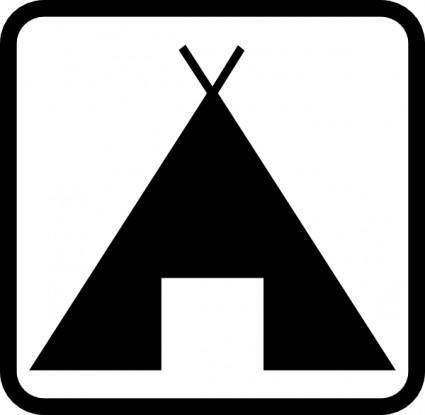 Geant Pictogramme Camping clip art
