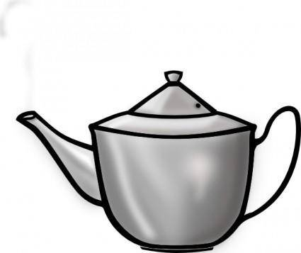 Printerkiller Metal Tea Pot clip art