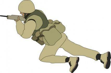 Crawling Soldier clip art